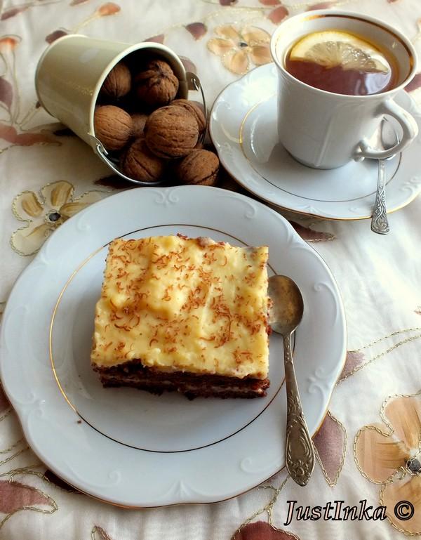 czekoladowe z kremem waniliowym